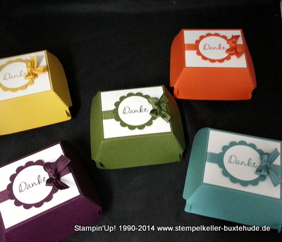 Big Shot Stampin'Up! Hamburger Box