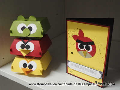 Big Shot Hamburger Box, Angry BIrds, Stampin'Up! Hamburg Buxtehude