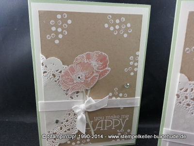 Stampin Up Happy Watercolor Embossing