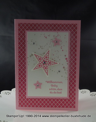 Stampin'Up! Karte Baby Simply Stars