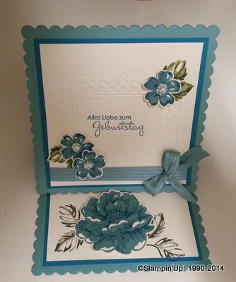 Easl Card Stempelset Stippled Blossoms, Stampin'Up!